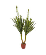 """57"""" Green White Flowering Yucca Plant, Nearly N... - $109.03"""