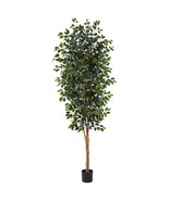 8' Green Silk  Ficus Tree w/1512 Leaves by Near... - $151.46