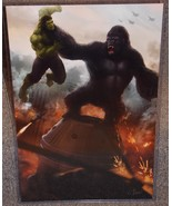 King Kong vs The Incredible Hulk Glossy Print 1... - $24.99