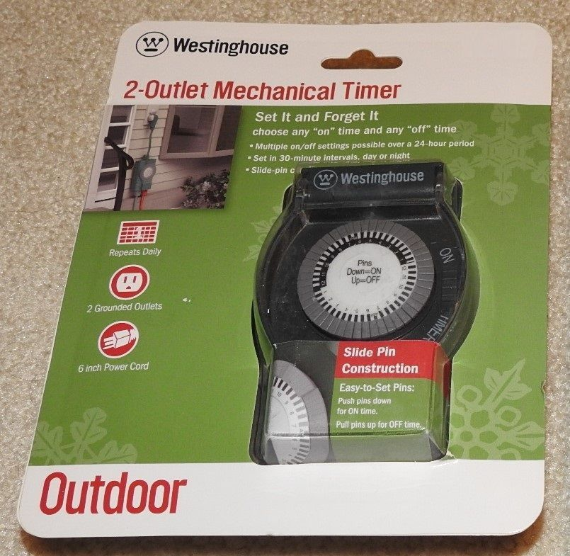 Westinghouse outlet mechanical timer