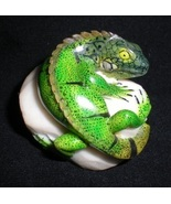 BRAND NEW Iguana Hand Carved from Tagua Nut - $90.00