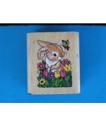 Bunny, Flowers, and Butterfly 1997 Noteworthy R... - $2.99
