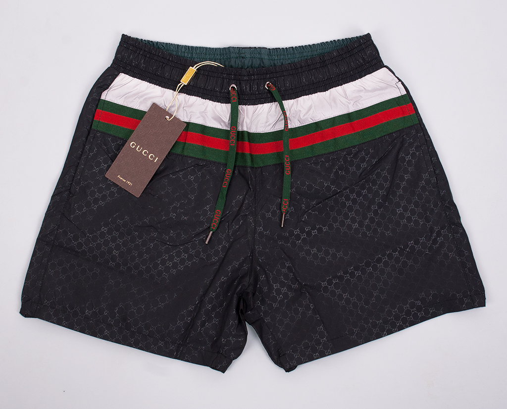 Gucci Printed Swim Shorts Black Men Swimming Trunk