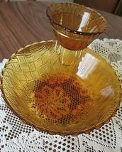 Indiana Carnival Glass Gold Basketweave Vintage... - $15.87