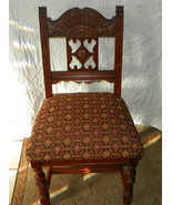 Walnut Carved Desk Chair / Sidechair- brown, br... - $299.00