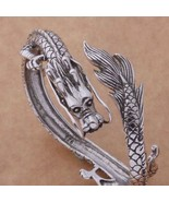 New Men's Silver Color Dragon Bracelet - $11.88