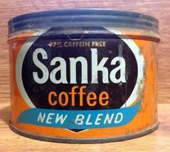 Vintage Sanka New Blend One Pound Coffee Tin - ... - $10.00