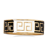 Black and White Enamel Greek Key Design Hinged ... - $19.95