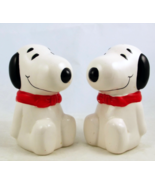 Vintage Snoopy ceramic salt pepper shaker set B... - $18.00