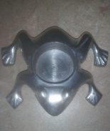 Silver Metal Frog Tealight Candle Holder  - $14.99
