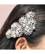 New - Crystal & Pearl Hair Comb - $23.00