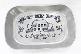 Vintage wilton armetale pewter metal bread tray... - $17.81