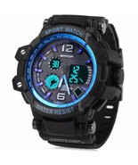 New Men's Blue Multi Function Dual Time Digital... - $16.83