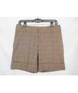 Womens Dress Shorts Size 6 Medium Cuffed Plaid ... - $6.95