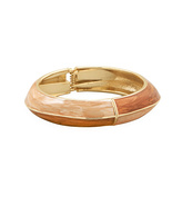 Gold Tone and Pearlescent Dark and Light Enamel... - $14.28