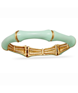 Mint Green Bamboo Fashion Stretch Bangle Bracel... - $20.97