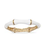 Brite White Bamboo Fashion Stretch Bangle Brace... - $18.87