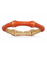 Orange Bamboo Fashion Stretch Bangle Bracelet, ... - $18.87