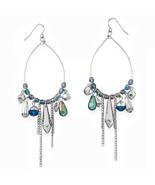 Silver TonePear Pear Shape Drop Fashion Earring... - $15.74
