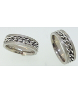 Titanium Ring - chain center - $39.00