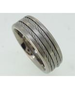 Titanium Ring - rope cable  center - $65.00
