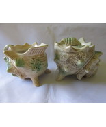Vintage Shell Shaped Creamer & Lidded Sugar Bow... - $9.99