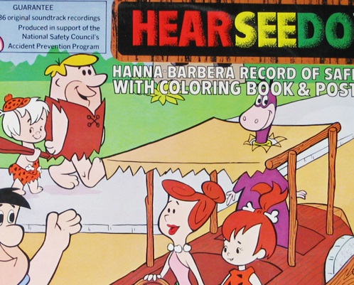 Hanna Barbera LP Record Hear See Do Augie Doggie, Top Cat