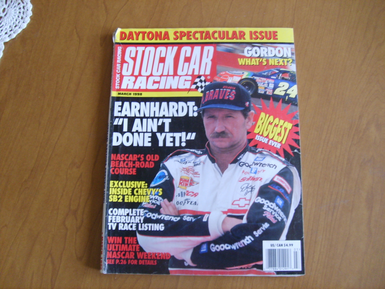 Stock Car Racing Magazine March 1998 Dale Earnhardt