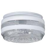 "Glass Utility Light Shade Ceiling 5 3/4"" Drum D... - $10.00"