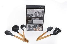 5 Pc Bamboo Silicone Kitchen Utensil Set Safe G... - $52.46