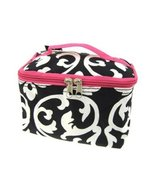 World Traveler Pink Damask Cosmetic Makeup Case - $9.79
