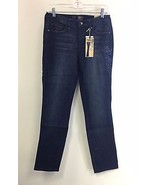 NEW NWT BEAU Designer Blue Stretch Denim Fleur ... - $24.99