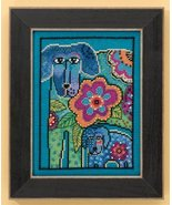 Petunia & Rose dog aida cross stitch kit Laurel... - $16.20