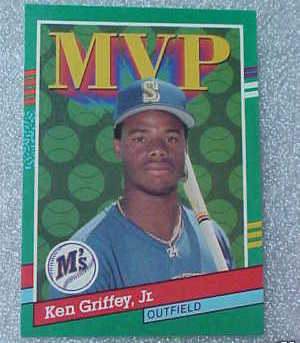 1990 Leaf MVP Griffey JR Mariner OF Baseball Card 392