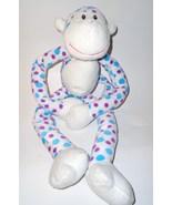 Fiesta Polka Dot Hanging Monkey Plush Stuffed A... - $12.99