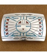 Sun Face Belt Buckle Sterling Silver Turquoise ... - $215.87