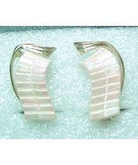 pink frost earrings thermset plastic clip back - $7.00
