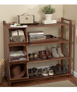 Wooden Shoe Cubby Holder Organizer Rack Storage... - $198.95