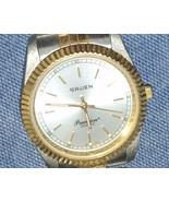Vintage Gruen Precision Quartz Gents Watch Stai... - $47.49