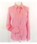 BANANA REPUBLIC Size L 10 12 Pink Gingham Check... - $19.98