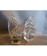 Mikasa Crystal Art Deco Candle Holders  Square ... - $31.00