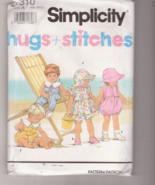 Sewing Pattern Simplicity 7310 Baby Rompers & D... - $2.99