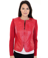 4-6P Nygard Collection Red Authentic Leather Fr... - $32.66