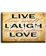 LIVE LAUGH LOVE RUSTIC COUNTRY TRIPLE LIGHT SWI... - $14.39