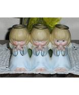 Hallmark 3 Angels Praying Figurine Blonde Hair ... - $14.97