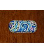 Vera Bradley Capri Blue Hard Eyeglass Case Sung... - $10.97