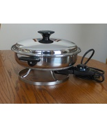 Gracious Lady Stainless Steel Electric Fry Pan ... - $34.99