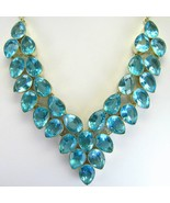 Electric Ice Blue Table-Top faceted Topaz Teard... - $338.88
