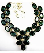 Table-Top Faceted Ovals of Green Moss Amethyst ... - $291.87