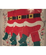 Set of 4 Santa Placemats Heavy Vinyl with glitter - $4.95